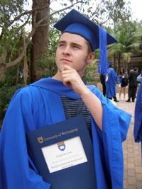 Graduating was cool